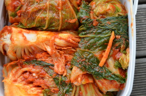 finished kimchi ready to ferment